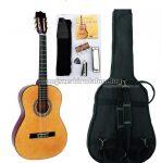 MSA natúr klasszikus gitár sok kiegészítővel, C22