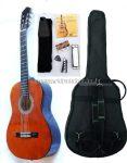 MSA sötét natúr klasszikus balkezes gitár sok kiegészítővel, CK 300 L
