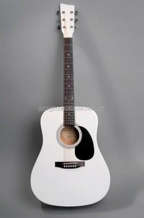 MSA fehér westerngitár ajándék hangológéppel