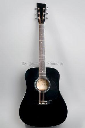 MSA fekete westerngitár ajándék hangológéppel