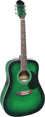MSA zöld westerngitár ajándék hangológéppel