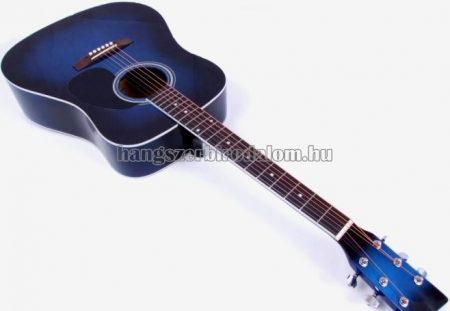 MSA kék westerngitár ajándék hangológéppel