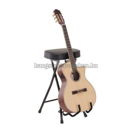Gitáros szék, beépített gitárállvánnyal