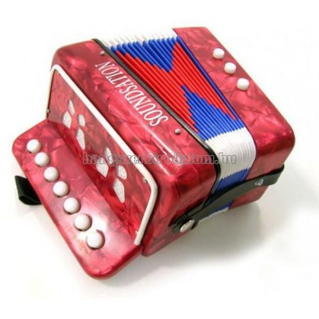Soundsation mini gombos tangóharmónika, piros