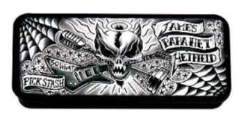 James Hetfield Signatura fémdobozos pengető