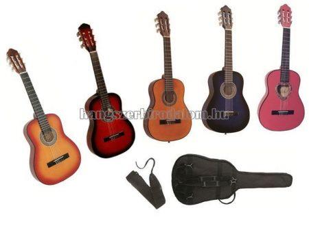 MSA 1/4 gitár tartozékokkal, több színben, 3-5 éves méret