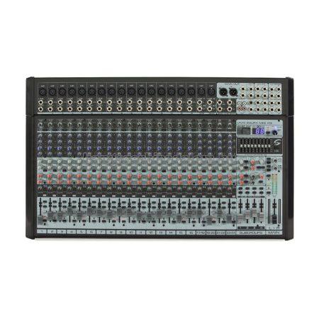 VIVO-24UFX MKII - 24 csatornás magas minőségű professzionális mixer, Ambient Pro® FX processzorral és USB I/O hangkártyával
