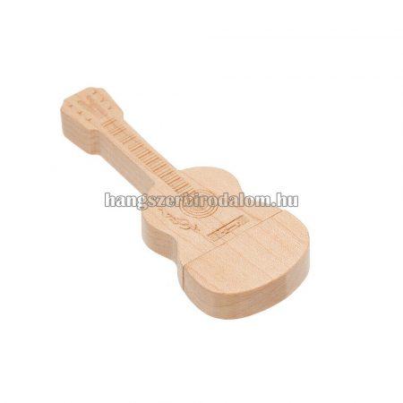 Fából készült gitár pendrive 64Gb-os