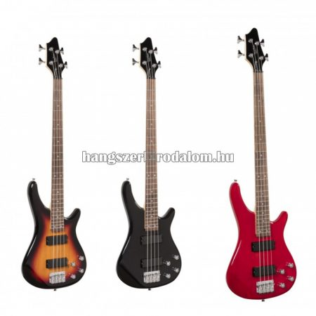GUNBARREL-4 - Elektromos basszusgitár hídra és nyakra szerelt pickuppel, több színben