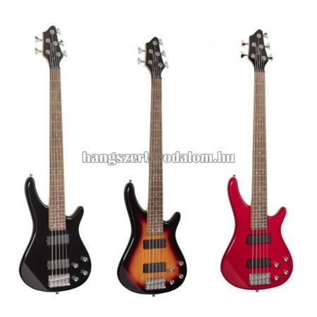 GUNBARREL5- 5 Húros elektromos basszusgitár hídra és nyakra szerelt pickuppel, több színben
