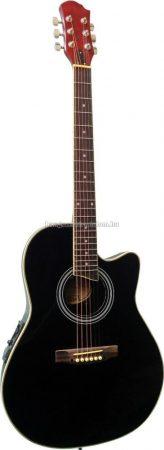 MSA Roundback elektroakusztikus gitár, fekete