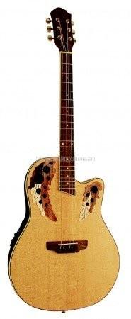 MSA Roundback elektroakusztikus gitár, natúr, mintás