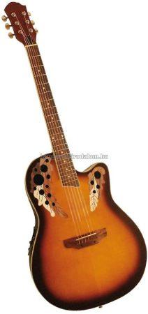 MSA Roundback elektroakusztikus gitár, barna, mintás