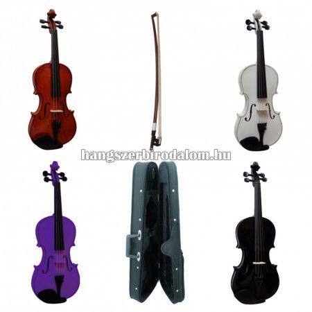 MSA 4/4 méretű akusztikus hegedű szett, több színben