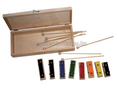 Ulwila színes, dobozos lapra szedhető metallofon